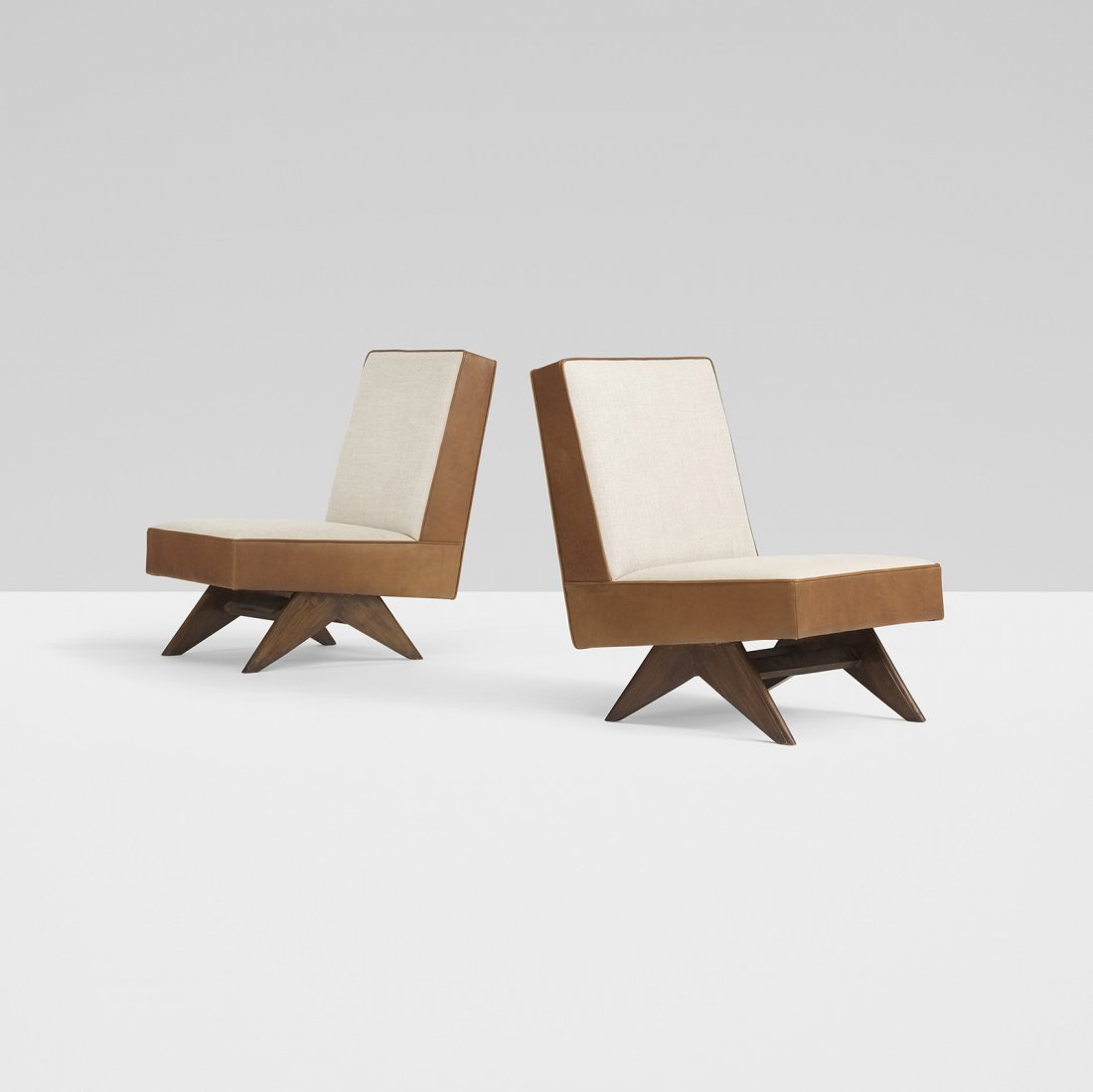 Pierre Jeanneret pair of lounge chairs from Chandigarh