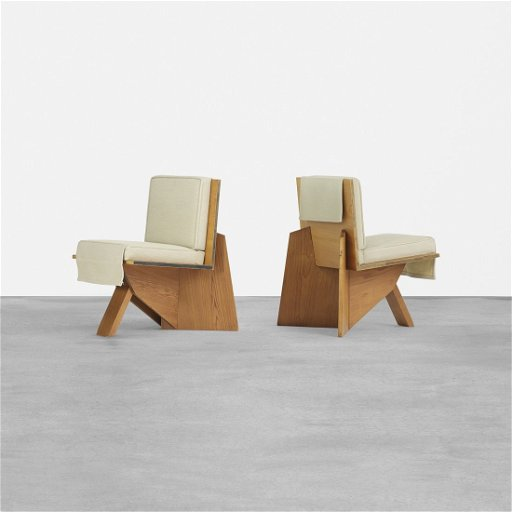 Super Frank Lloyd Wright Pair Of Lounge Chairs Sondern House Theyellowbook Wood Chair Design Ideas Theyellowbookinfo