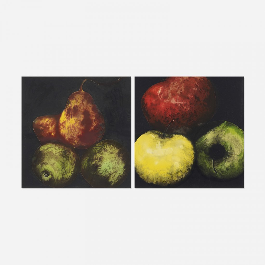 Donald Sultan Apples and Red Pears