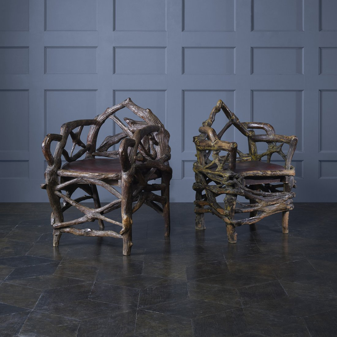 American pair of chairs from Al Capone's retreat - 5