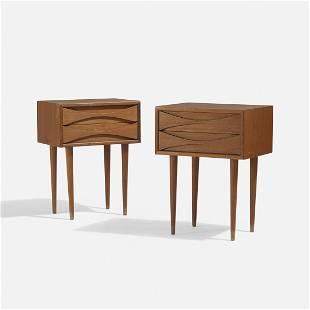 Arne Vodder nightstands, pair