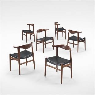 Hans Wegner Cow Horn chairs, set of six