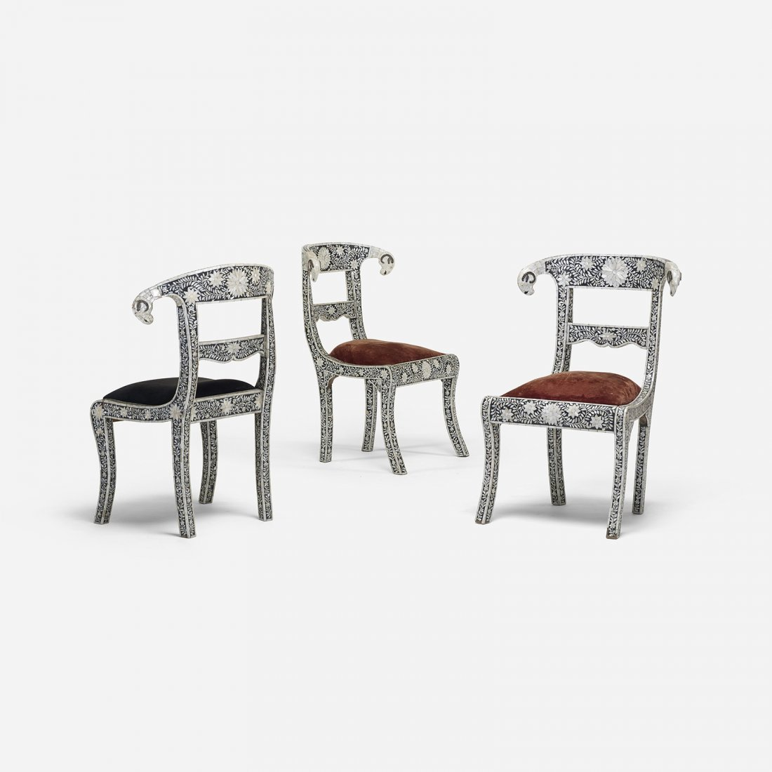 Indian chairs, set of three