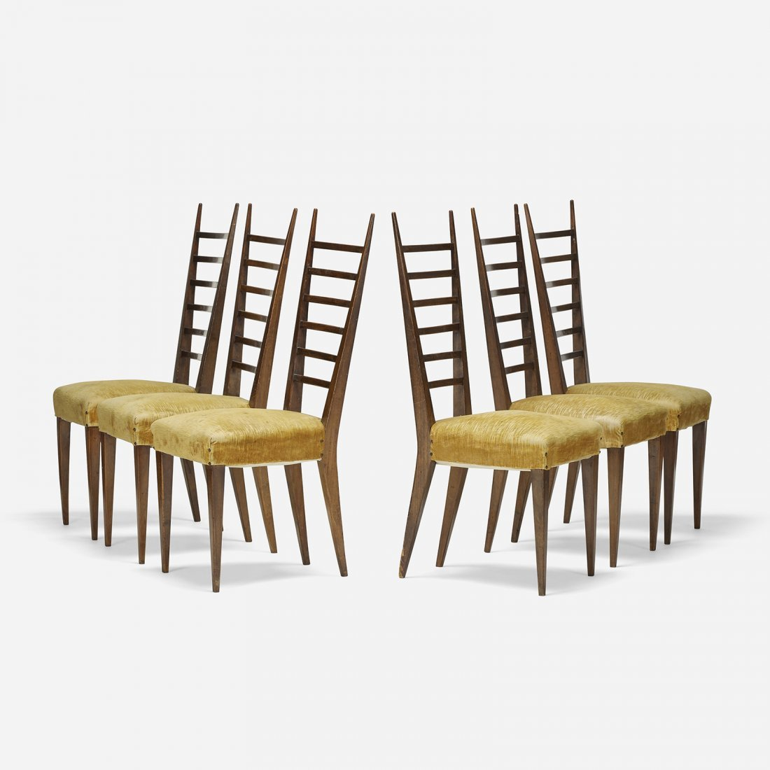 Italian dining chairs, set of six