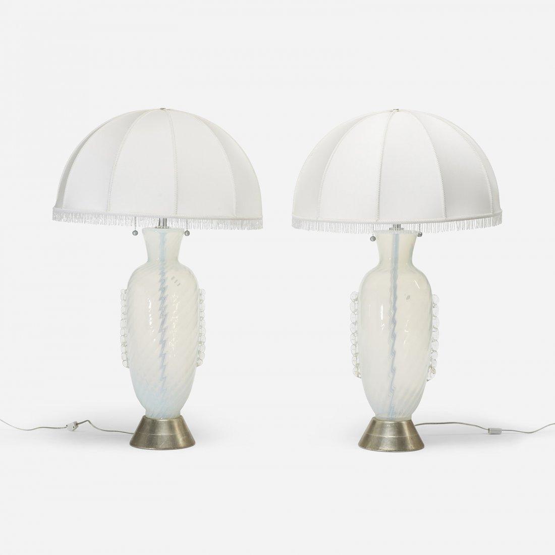Italian table lamps, pair