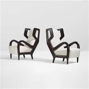 Gio Ponti Rare lounge chairs, pair