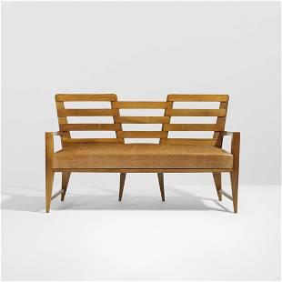 Gio Ponti rare sofa for Palazzo Liviano