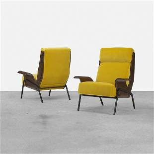 Gustavo Pulitzer Alba lounge chairs, pair
