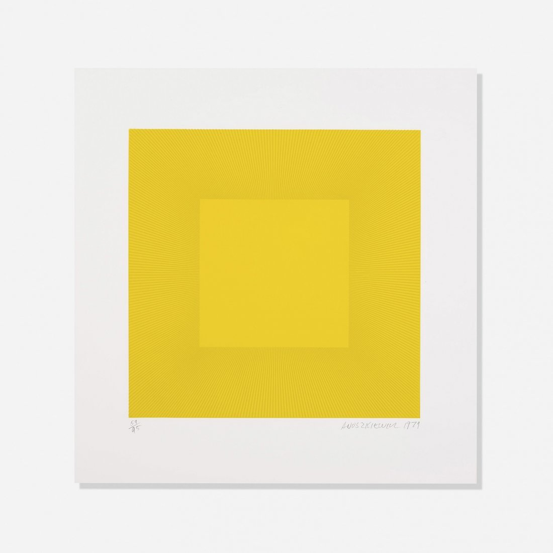Yellow Reversed by Richard Anuszkiewicz 1970 plate signed