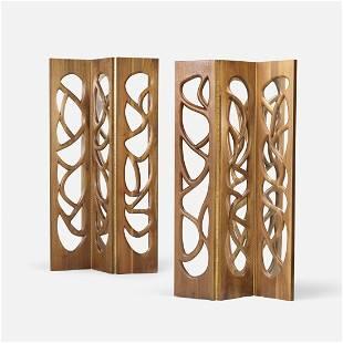 Phillip Lloyd Powell, mirrored screens, pair