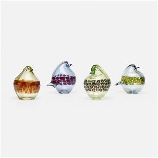 Antonio da Ros, birds, set of four