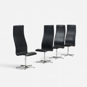 Arne Jacobsen, Oxford Chairs Model 7403, Set Of Four