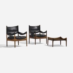 Kristian Vedel, Lounge Chairs, Pair & Occasional Table