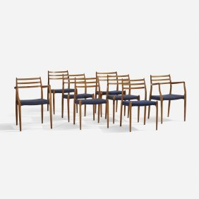 Niels O. Moller, Dining Chairs, Set Of Eight