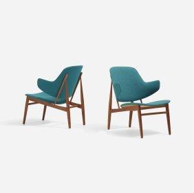 Ib Kofod-larsen, Lounge Chairs, Pair