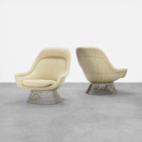 Warren Platner, Lounge Chairs, Pair