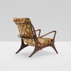 Vladimir Kagan, High Back Sculptured Contoured Chair