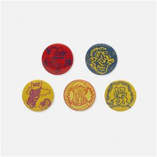Hairy Who (Various Artists), buttons (complete set)