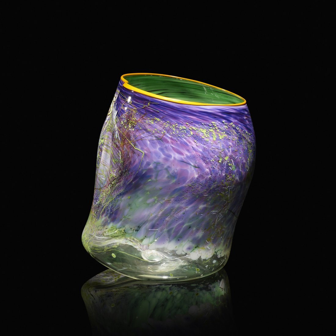 Chihuly, Purple Lake Soft Cylinder, Terre Verte Drawing