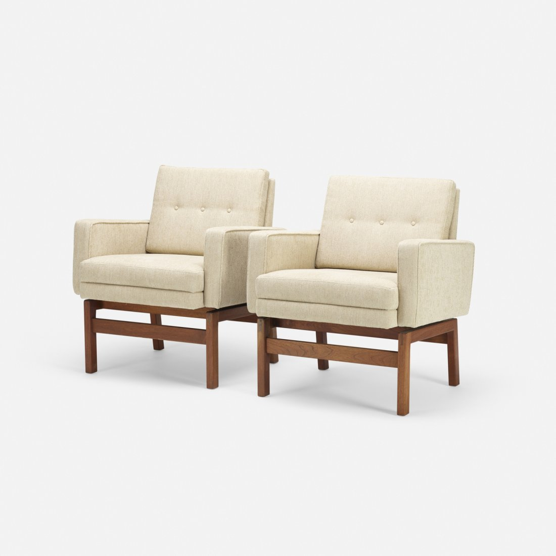 Jens Risom, lounge chairs, pair - 2