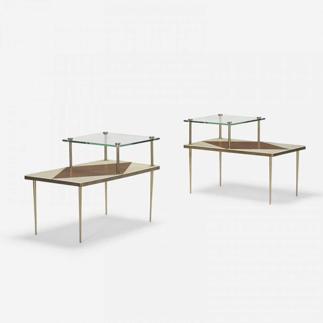 American, occasional tables, pair