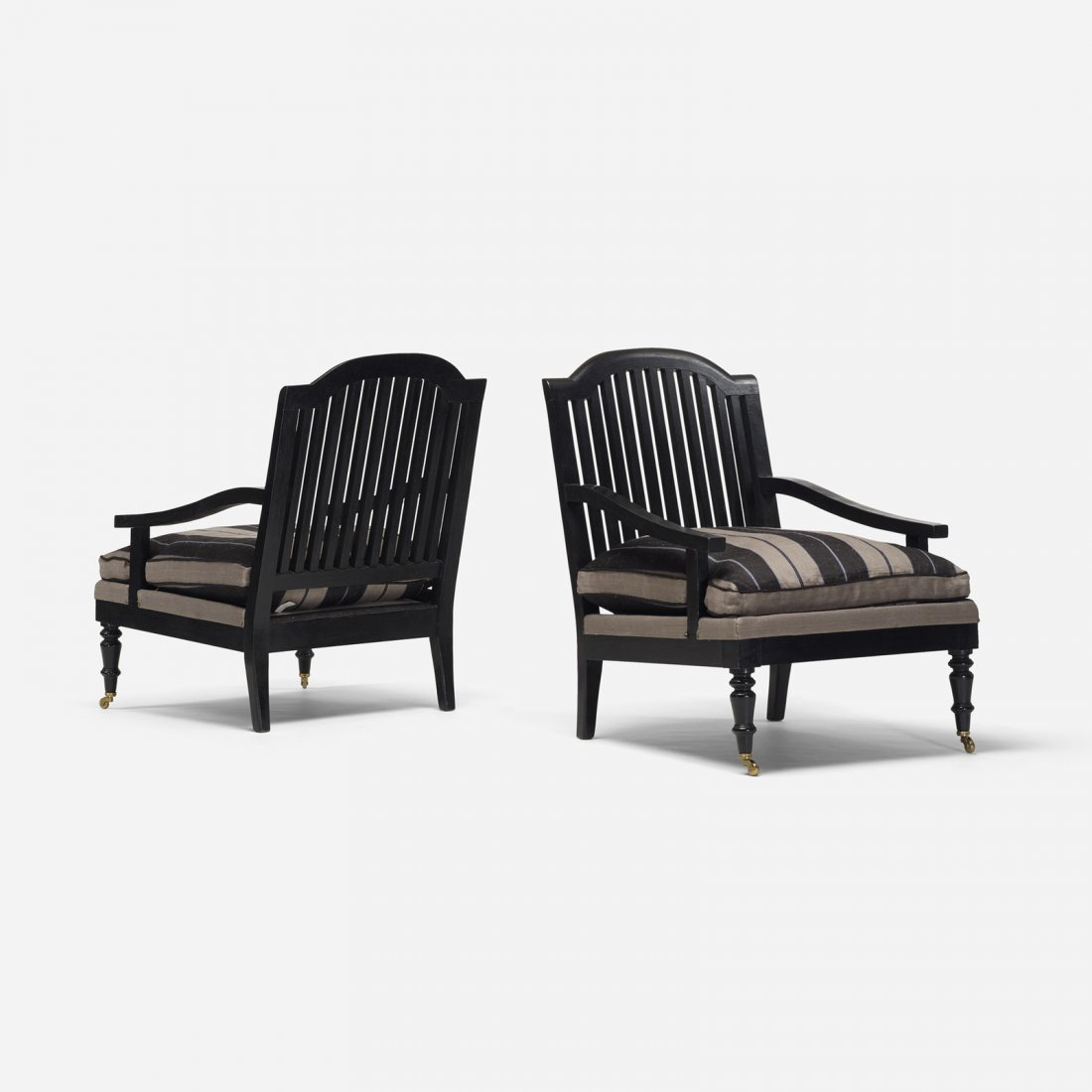American, lounge chairs, pair