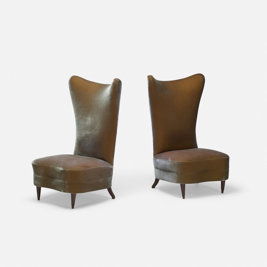 American, slipper chairs, pair