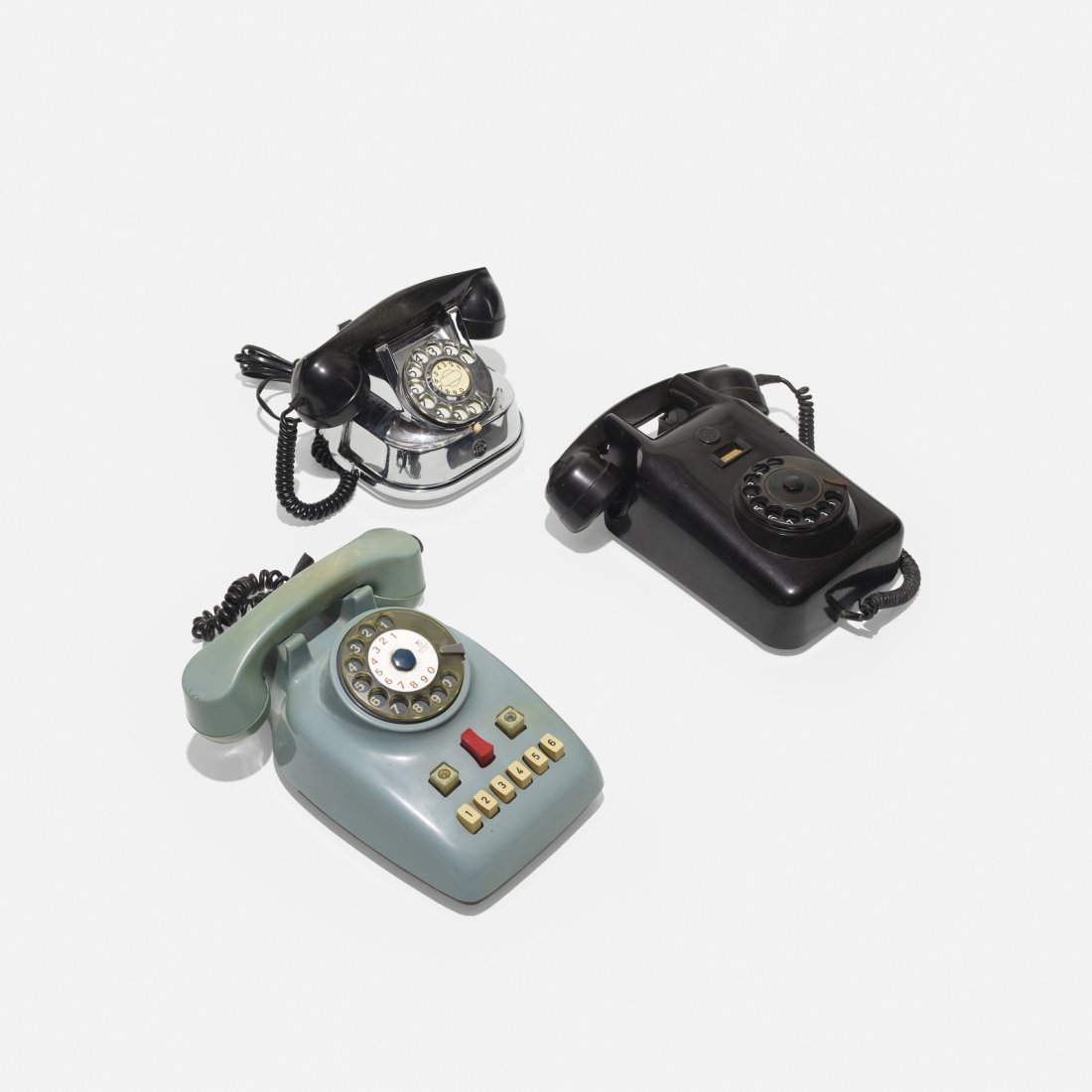 Various Artists, collection of three telephones