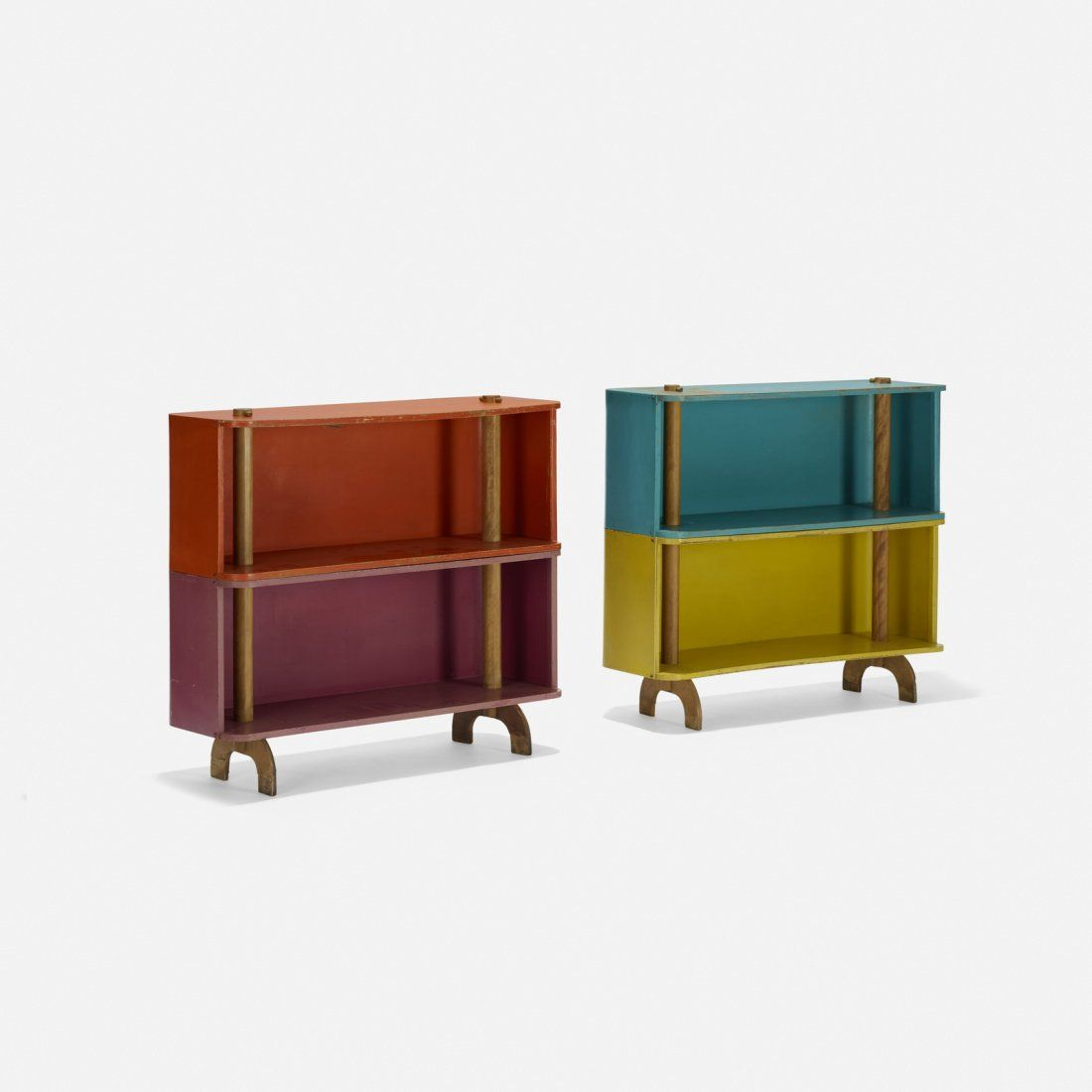 Henry Glass, Swingline bookcases, pair