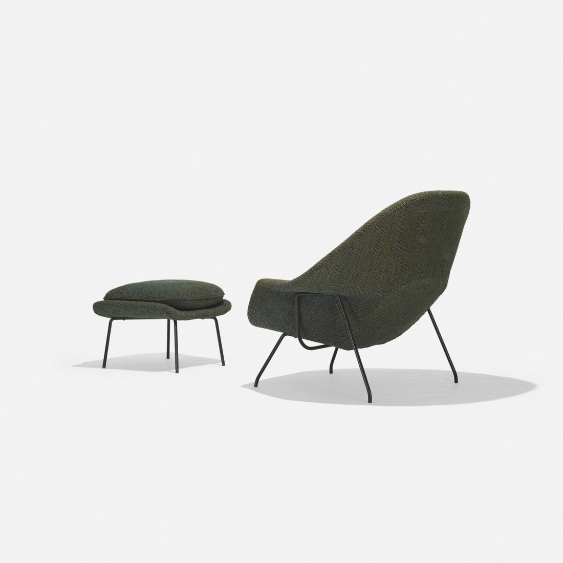 Eero Saarinen, Womb chair and ottoman - 3