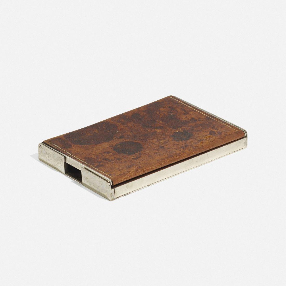 Carl Aubock II, early cigarette box