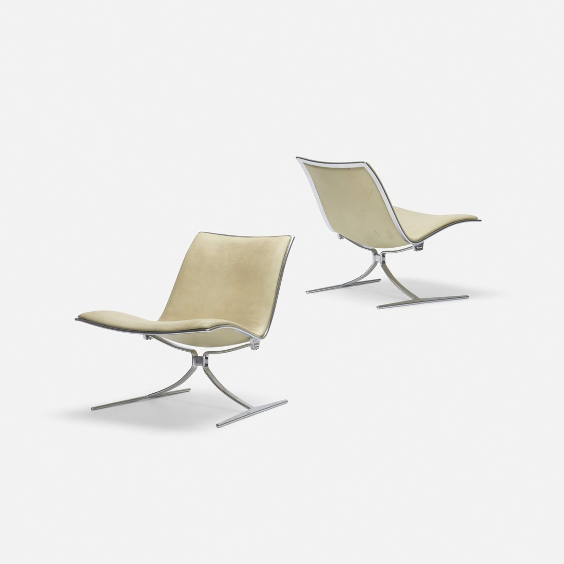 Preben Fabricius and Kastholm, Skater chairs, pair