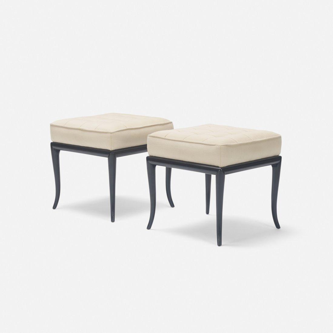 T.H. Robsjohn-Gibbings, benches, pair