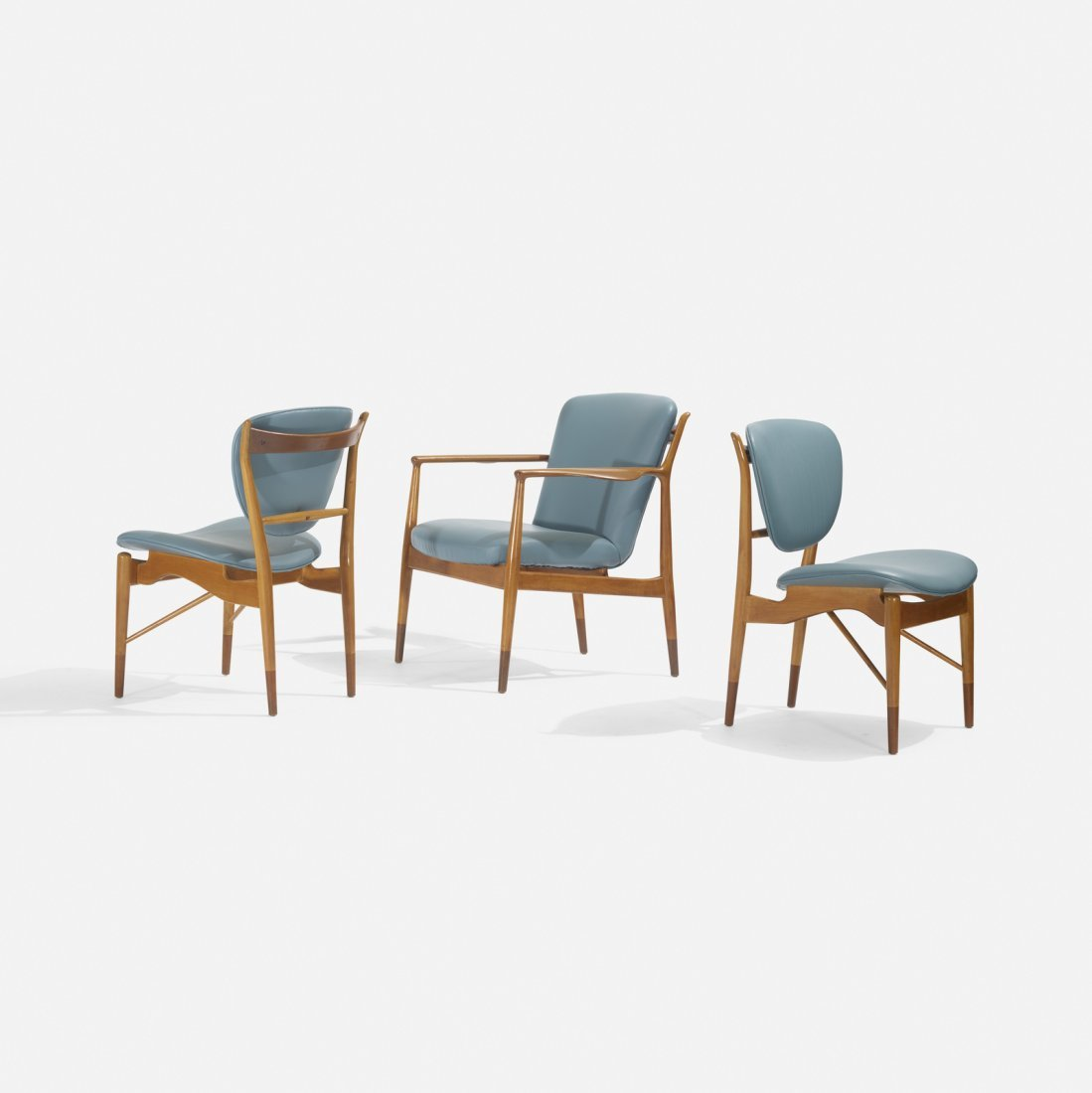 Finn Juhl, set of three chairs