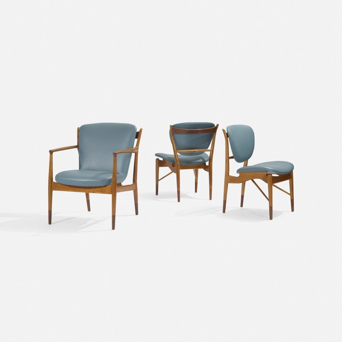 Finn Juhl, set of three chairs - 2