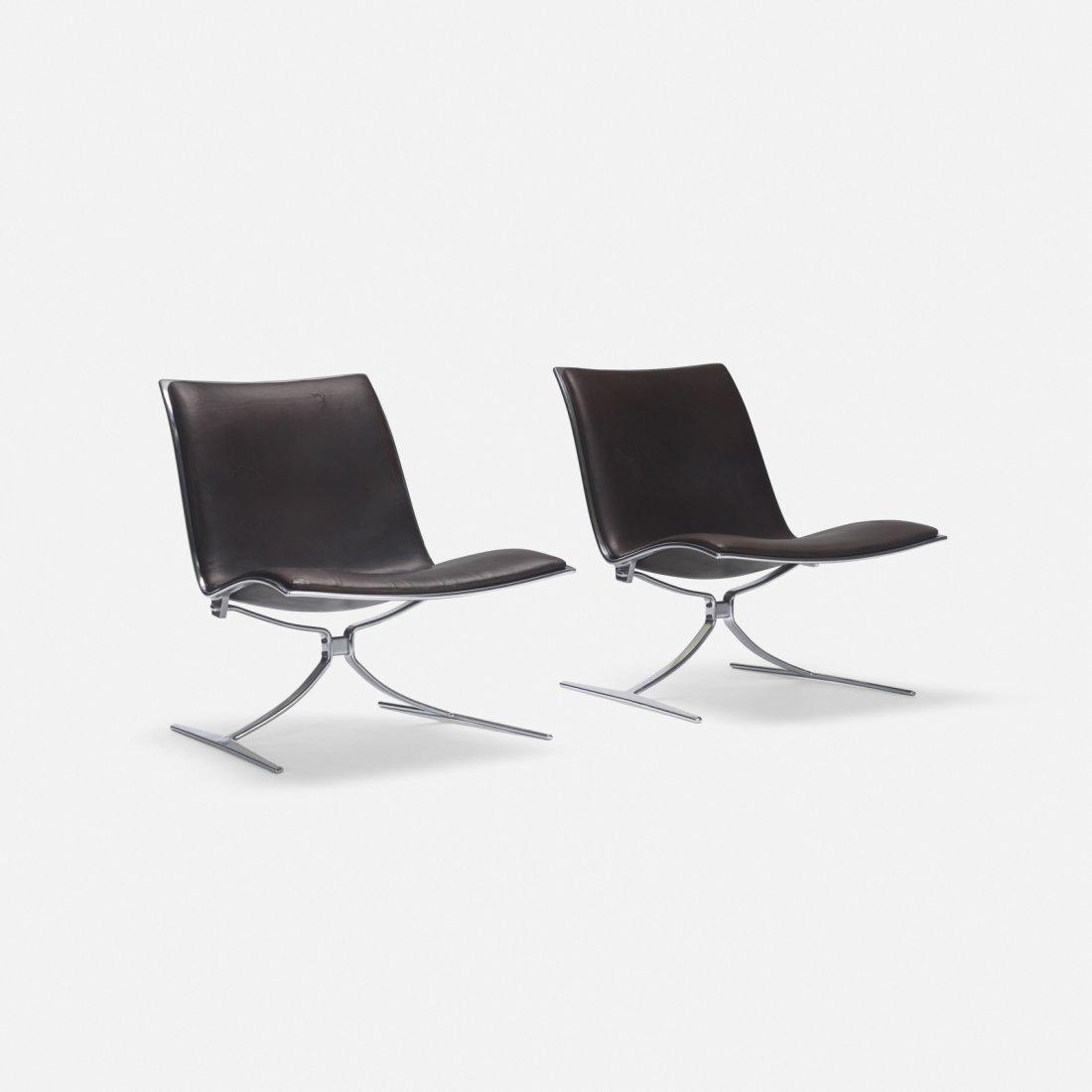 Preben Fabricius & Jorgen Kastholm, Skater chairs, pair