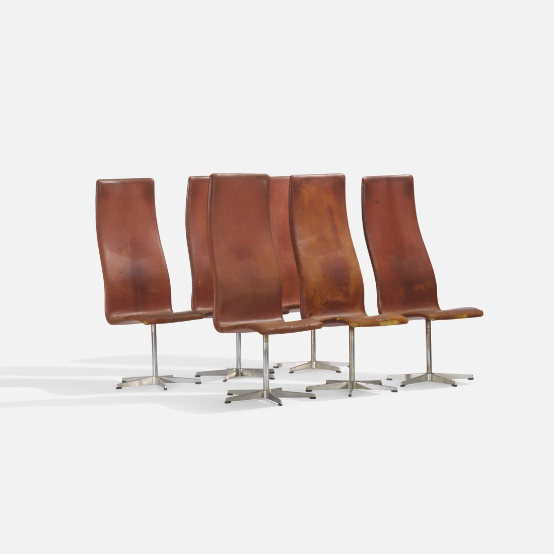 Arne Jacobsen, Oxford chairs model 7403, set of six