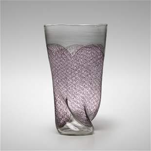 Archimede Seguso, rare Merletto vase