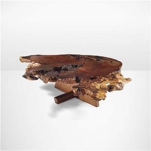 George Nakashima, Important, Rare Minguren coffee table