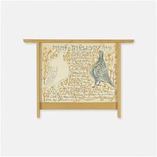 George Nakashima and Ben Shahn, Psalm 133 and frame