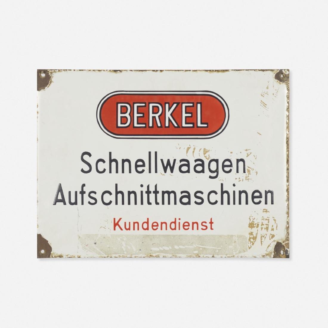 Berkel, display sign