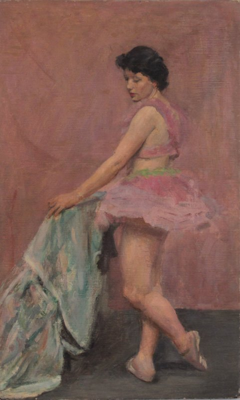 Oil Painting on Canvas Ballerina in Pink