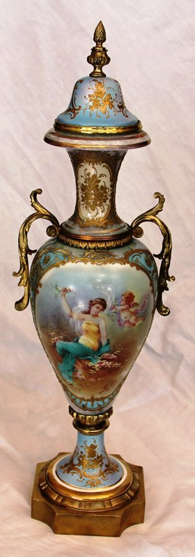 19th Century Sevres Covered Urn