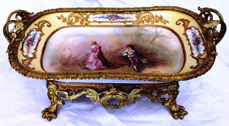 19th Century Sevres Porcelain Centerpiece