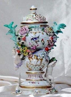 Meissen Covered Figural Urn