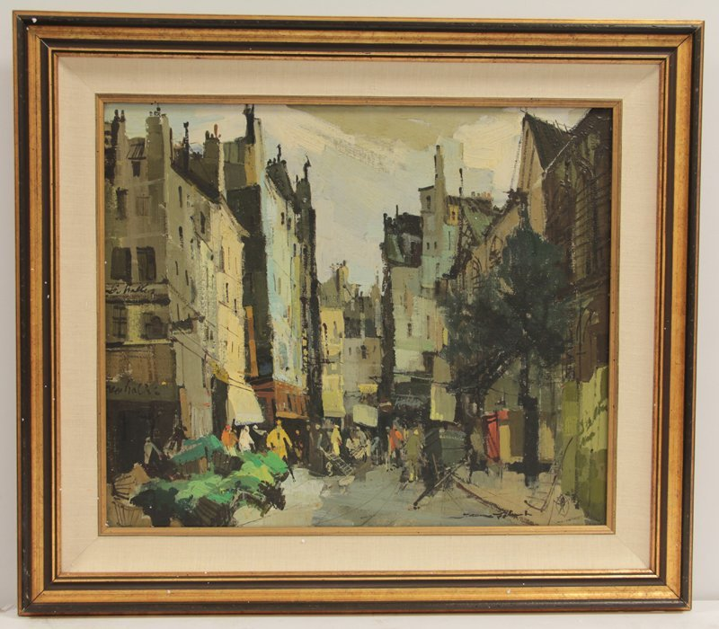 JEAN FABERT  OIL PAINTING ON CANVAS