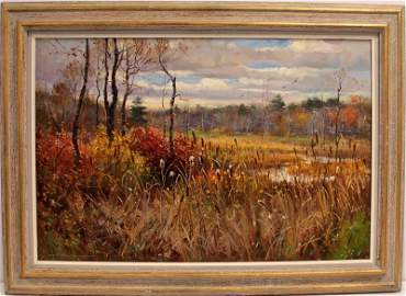WAYNE BEAM MORELL OIL PAINTING ON CANVAS
