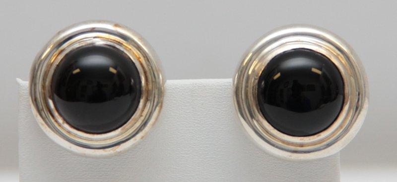 VINTAGE PALOMA PICASSO TIFFANY & CO BLACK ONYX EARRINGS