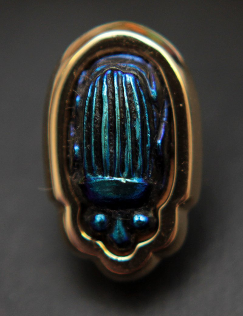 18KT YG VINTAGE LCT TIFFANY AND CO SCARAB PIN