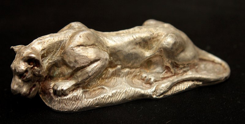 VINTAGE LOUIS COMFORT TIFFANY .925 LIONESS PAPER WEIGHT